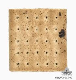 ANZAC Biscuit: THEN Image Source: Australian War Memorial