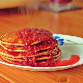 Wholewheat (Atta) Pancakes with Homemade BerryCompote