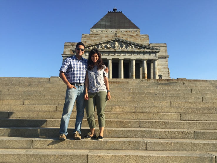 Us at the Shrine